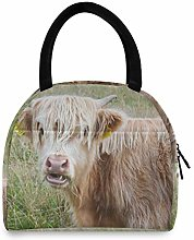 Animal Cattle Cow Ox Weidetier Portable Lunch Bag