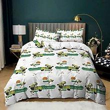 Animal Crocodile Duvet Cover, Cartoon Green Frog