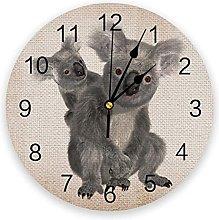 Animal Decor Silent Non Ticking Wall Clock,