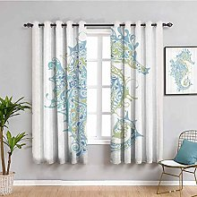 Animal Decor Soundproof Privacy Window Curtains