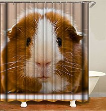 Animal Decoration. Guinea Pig. Shower Curtain.