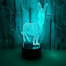Animal Donkey 3D Table Lamp Remote 3D Desk Night