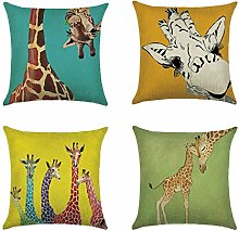 Animal Double-sided Print Cushion Covers Cotton