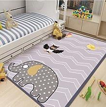 Animal Elephant Owl Printed Carpet Bedroom Bedside
