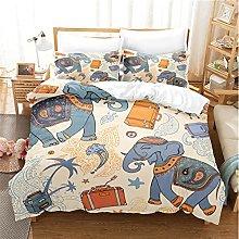 Animal Elephant Pattern Duvet Cover Set, Exquisite