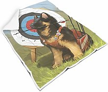 Animal German Shepherd Square Throw Blanket Warm