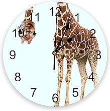 Animal Giraffe Probe 3D Wall Clock Modern Design
