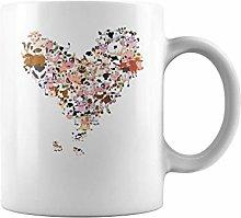 Animal Heart Cow | 11 oz Funny Coffee Mug