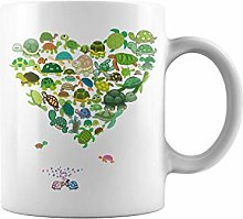 Animal Heart Turtle | 11 oz Funny Coffee Mug