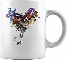 Animal Heart Wolf | 11 oz Funny Coffee Mug