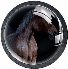 Animal Horse Crystal Drawer Handles Furniture