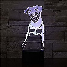 Animal Hound Hunting Dog 3D Led Light Multicolor