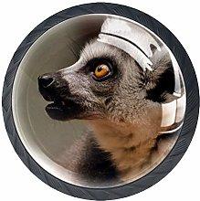 Animal Lemur Crystal Drawer Handles Furniture