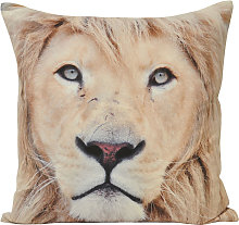 Animal Lion Cushion Cover (45x45cm) (Multi) - Riva Home