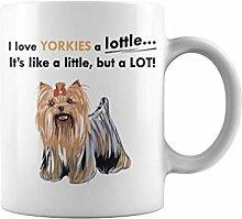 Animal Love a lot Yorkies | 11 oz Funny Coffee Mug