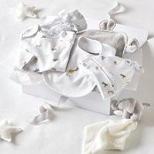 Animal Luxury Baby Gift Set, Grey, 0-3mths