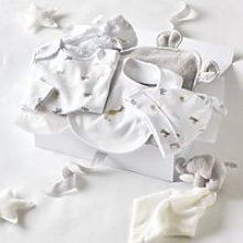 Animal Luxury Baby Gift Set, Grey, 3-6M