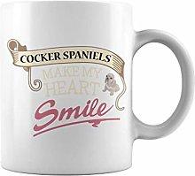 Animal Make Smile Cocker Spaniels | 11 oz Funny