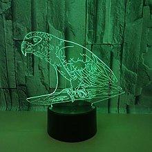 Animal Parrot 3D Led Night Light USB Bulb Figure