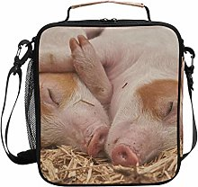 Animal Piglet Sleep Funny Lunch Bag Insulated