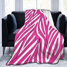 Animal Pink Zebra Print Fleece Throw Blankets,