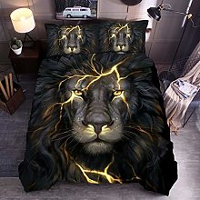 Animal Print Bedding Set Single Size Lion