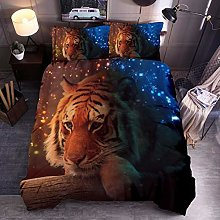 Animal Print Bedding Set Super King Size Tiger