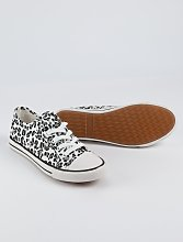 Animal Print Lace Up Canvas Trainers - 3