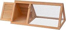 Animal Rabbit Cage Wood - Brown - Vidaxl