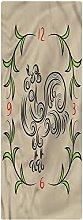 Animal Runner Rug, 1.3'x4', Floral Swirls