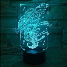Animal Seahorse LED Night Light Touch Sensor Color