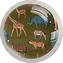 Animal World 4PCS Round Shape Cabinet Knobs for