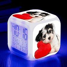 Animal World Pet Dog 7 Colors LED Alarm Clock,