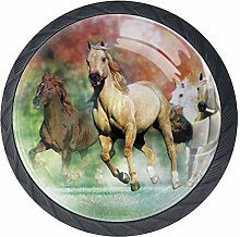 Animals Galloping Horses Cabinet Door Knobs
