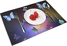 Animated Butterflies Table mat 4 piece kitchen