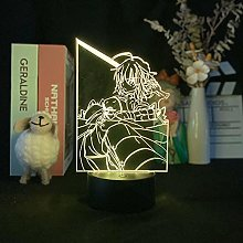 Anime 3D Night Light Remote Touch USB Kids Room