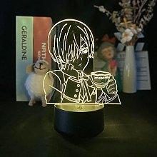Anime Black Butler Acrylic Colorful 3D Night Light