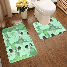 Anime Bulbasaur Soft Flannel Floor Mats Carpets