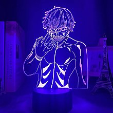 Anime Colorful 3D Night Light Tokyo Ghoul Ken