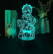 Anime Cute Girl 3D Night Light Acrylic LED