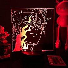 Anime Figure 3D LED Lamp Black Clover Shape Black