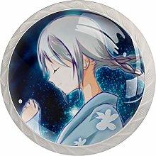 Anime Girl Space Smile White Crystal Drawer