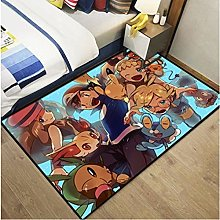 Anime Pikachu Boy Cute Cartoon Rectangular Carpet