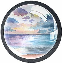 Anime Scenery Solid Kitchen Cabinet Knobs Round