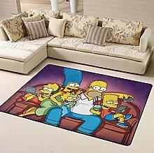 Anime Simpsons Area Rug Floor Rugs Living Room