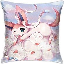 Anime Sylveon Square Pillowcase Soft Plush Living