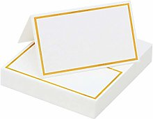 Anjing 120 Pieces Gold Foil Table Name Place Cards
