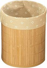 Anjing Bamboo Waste Bin Waste Paper Basket for