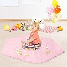 Anjing Coral Rug Mat Kids Mat Play Pink Velvet Rug
