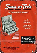 Anjoes Tin Sign 1958 Snap On Tool Catalog Vintage